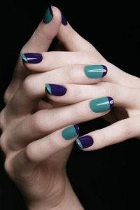 two tone nails, nail trends, canterbury hair and beauty salon