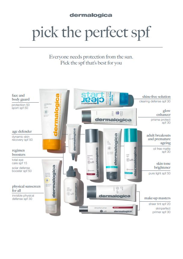 Pick the perfect SPF Dermalogica at Blakes Beauty Salon Canterbury 1
