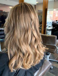 Long natural wavy hair Blakes Hair Salon Canterbury