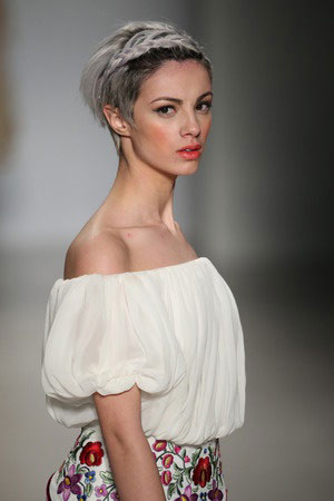 Plaited short hairstyles for wedding Canterbury hair salon